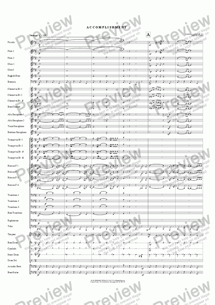 page one of Accomplishment (Concert)ASALTTEXT