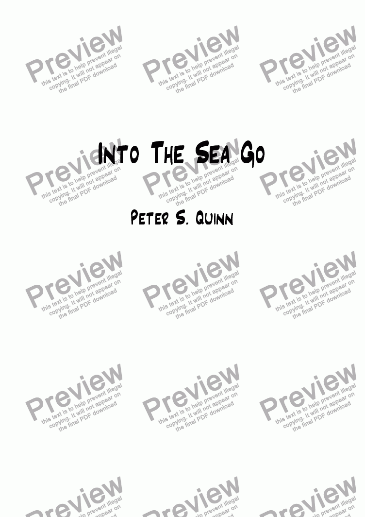 page one of Into The Sea Go