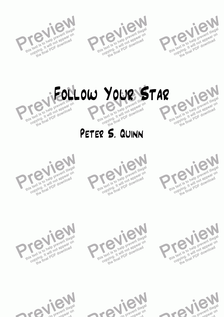 page one of Follow Your Star