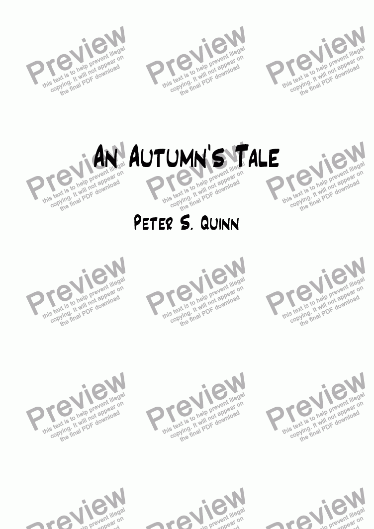 page one of An Autumn's Tale