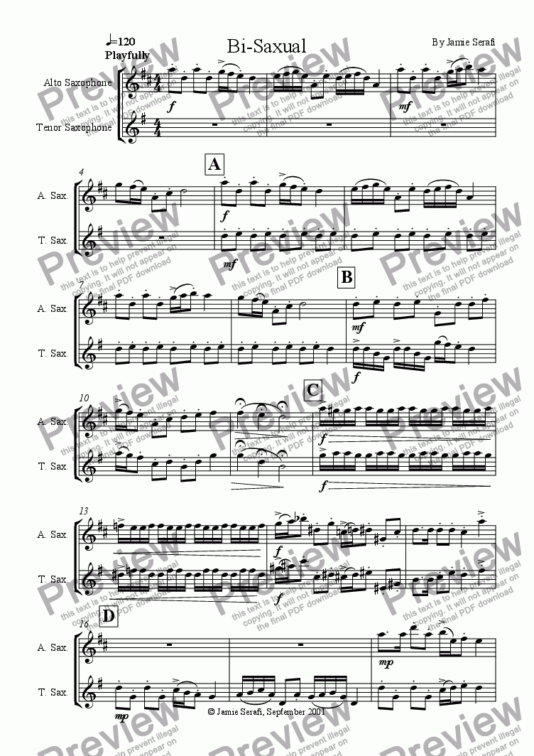 page one of Bi-Saxual