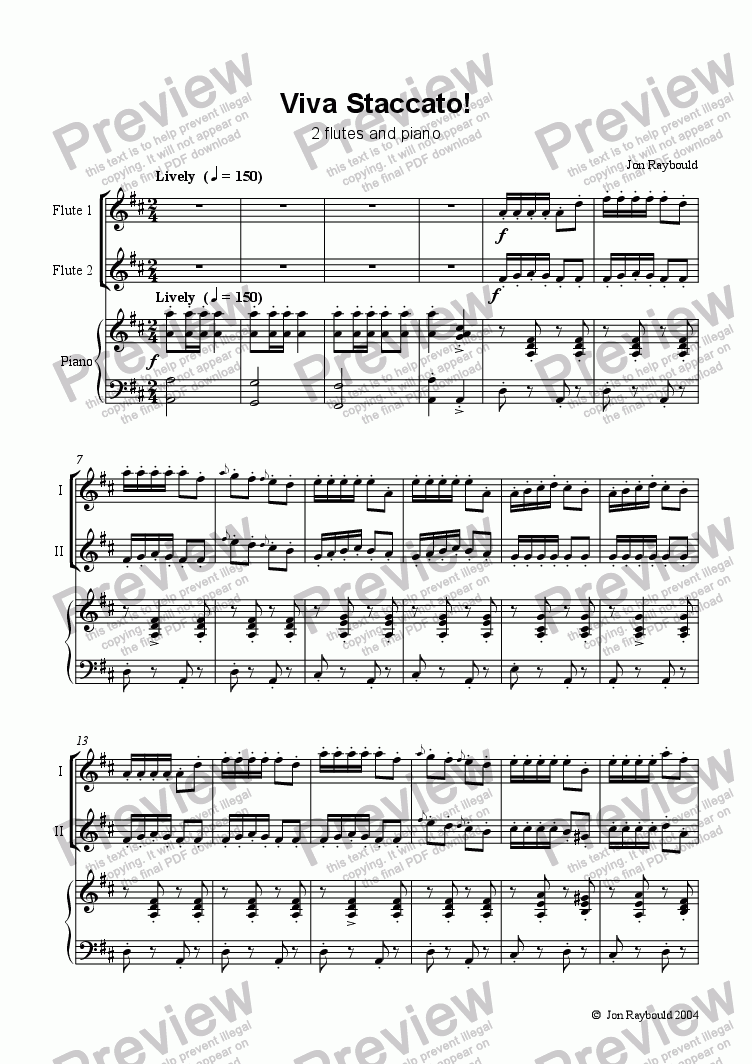 page one of Viva Staccato! for Flute Duet
