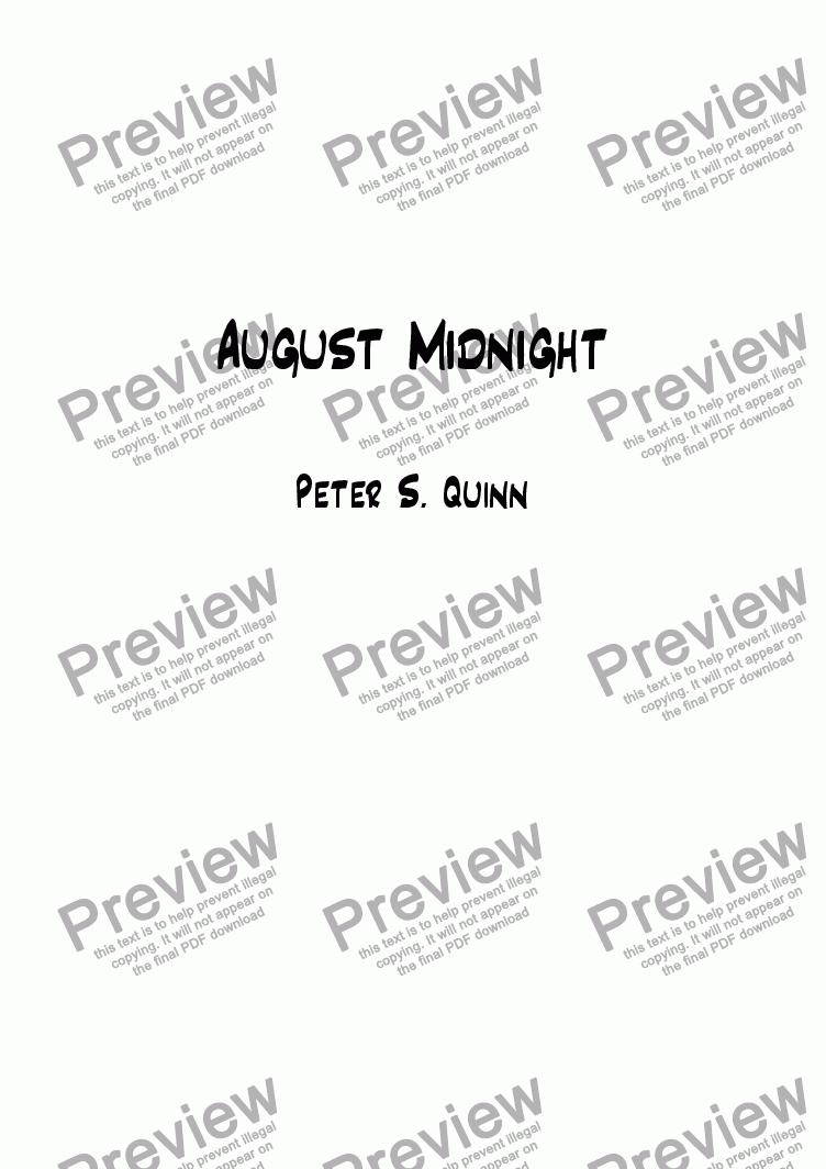 page one of August Midnight