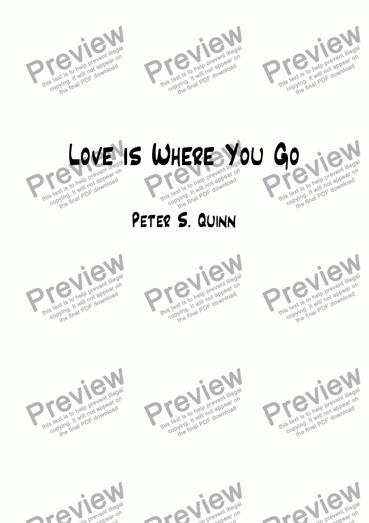 page one of Love is Where You Go