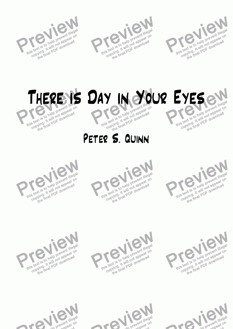 page one of There is Day in Your Eyes