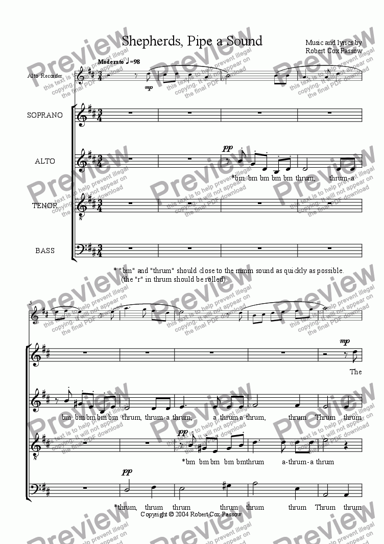 page one of Shepherds, Pipe a SoundASALTTEXT