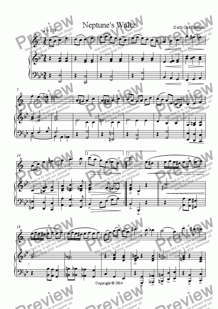 page one of Neptune's Waltz