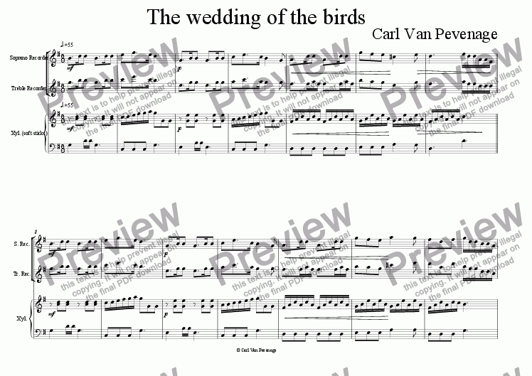 page one of The wedding of the birds