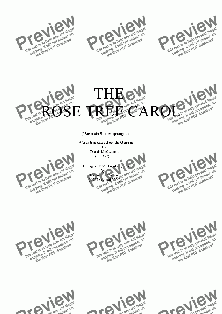 page one of The Rose Tree Carol