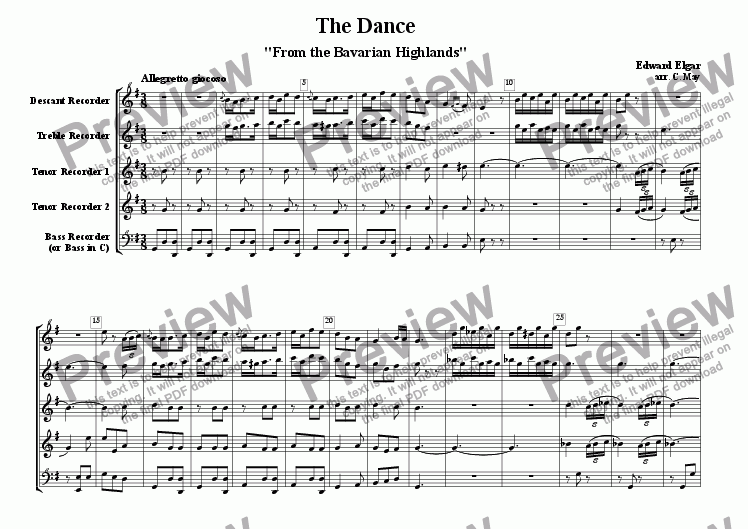 page one of The Dance - 'From the Bavarian Highlands'