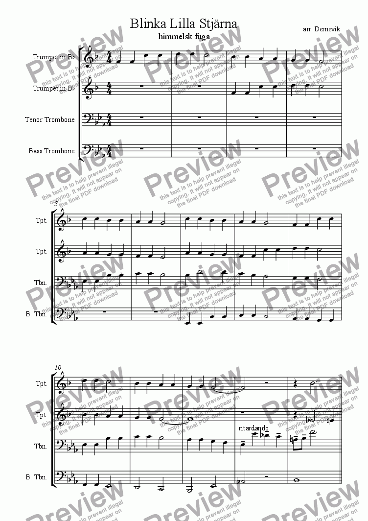 page one of Twinkle Twinkle little star - a fugue