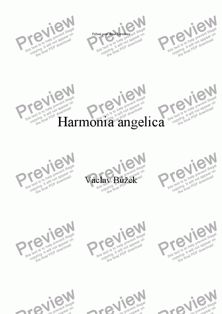 page one of Harmonia angelica