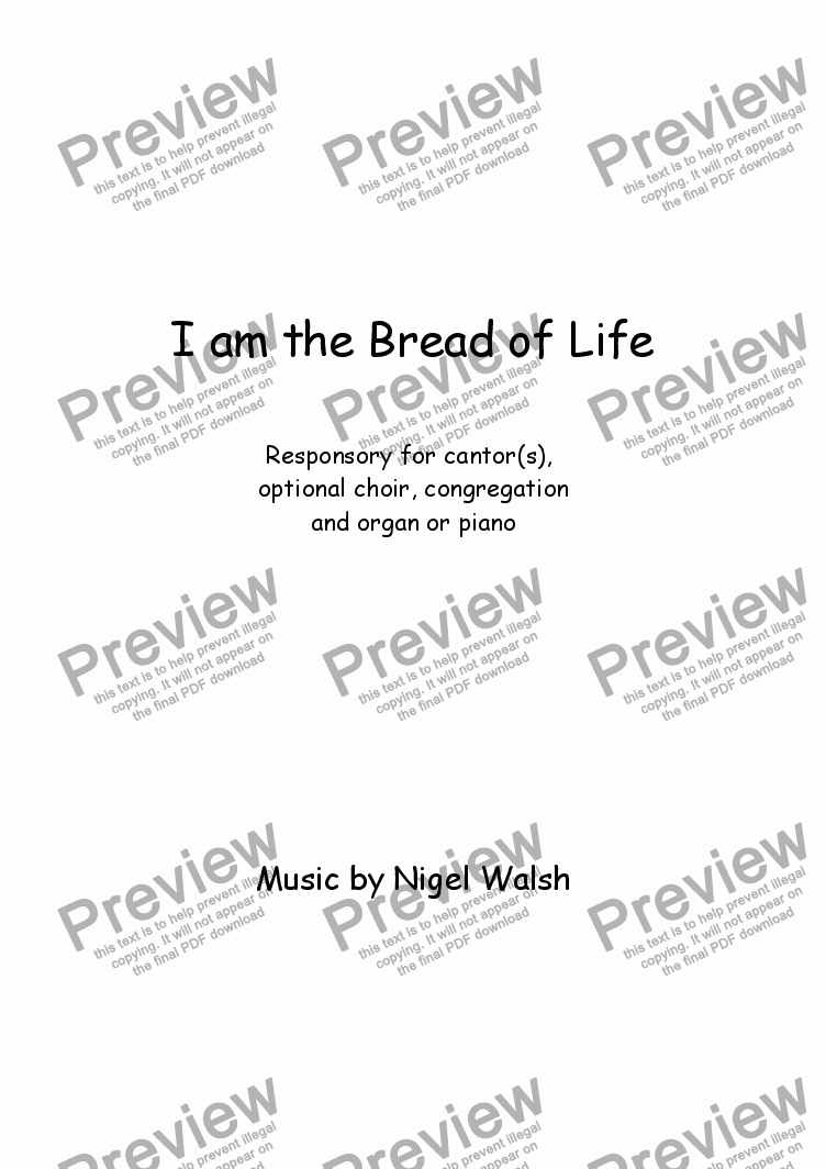 page one of I am the Bread of LifeASALTTEXT