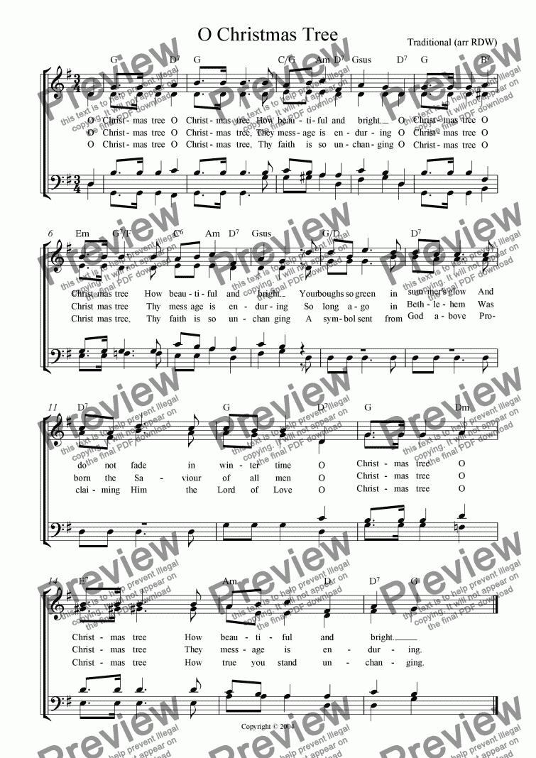 O Christmas Tree (SATB) - Download Sheet Music PDF file