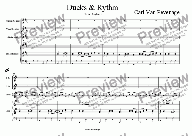 page one of Ducks out of Rythm