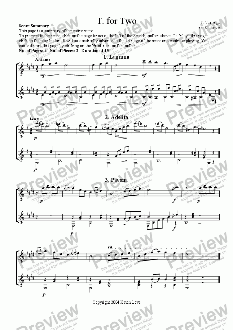 page one of T. for Two (Duo)