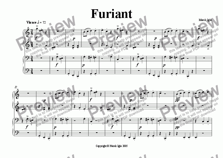page one of Furiant