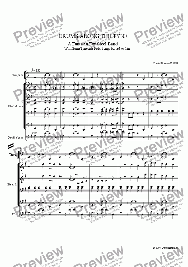 page one of Drums along The TyneASALTTEXT