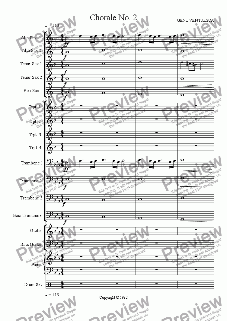 page one of Chorale No. 2