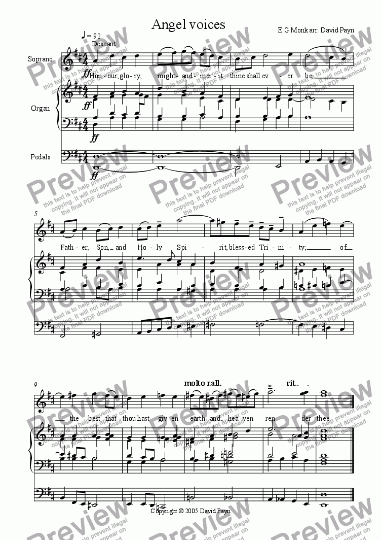 page one of Angel Voices