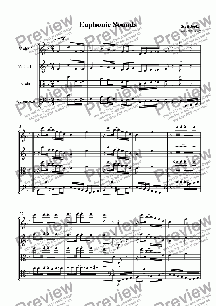 page one of Euphonic Sounds