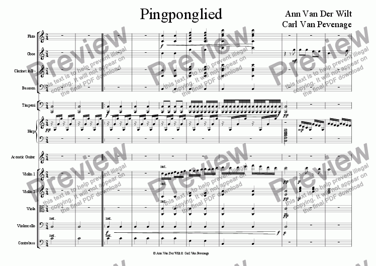 page one of Pingponglied