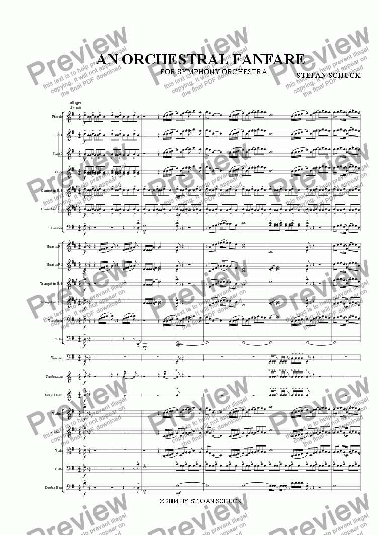 page one of An Orchestral Fanfare