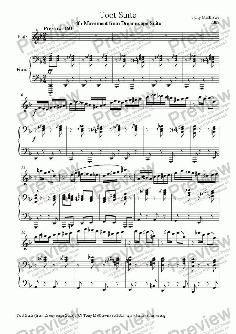 page one of Toot Suite