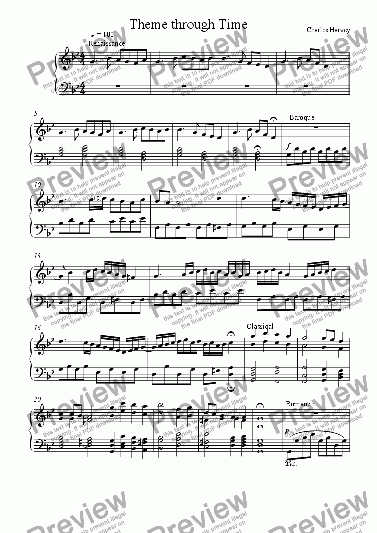 page one of Theme Through Time