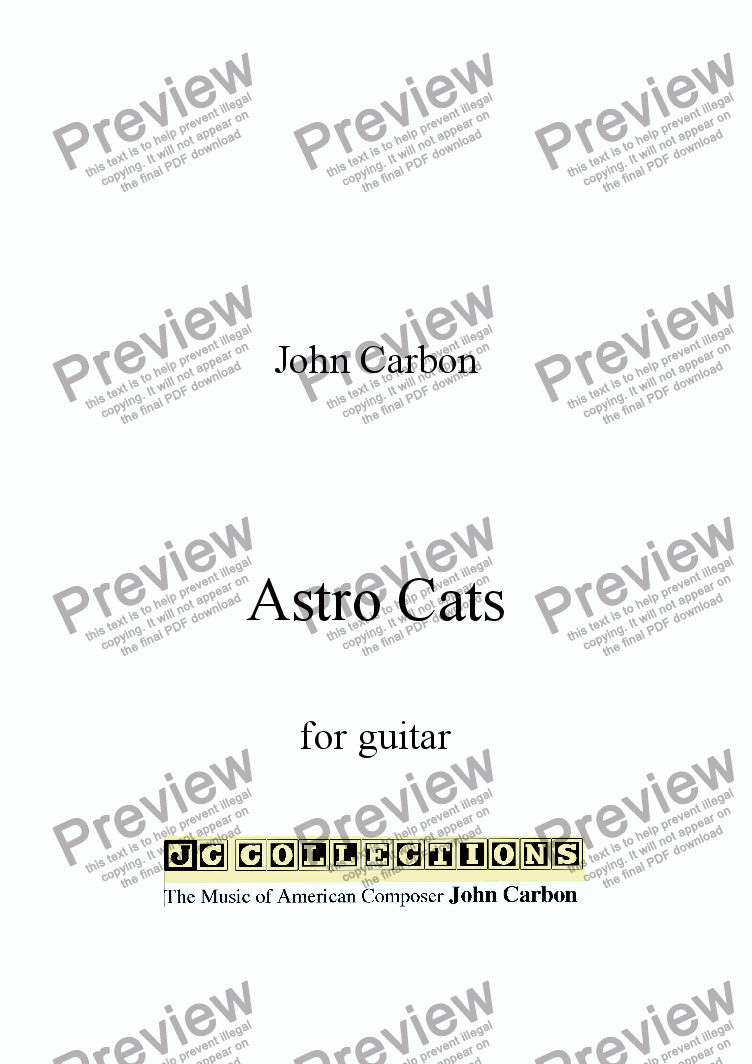 page one of Astro Cats for Guitar