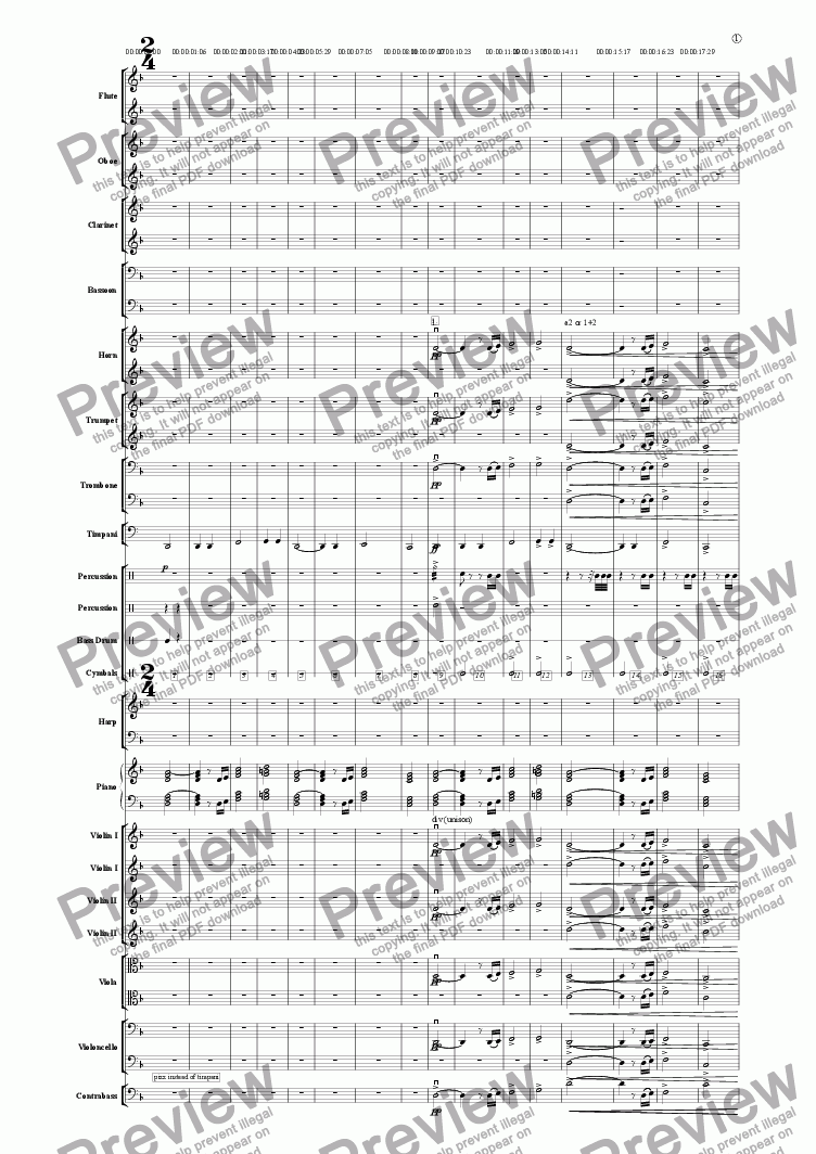 "page one of Theme from ""A Virtual Journey"" (Full Orcestra Version)"