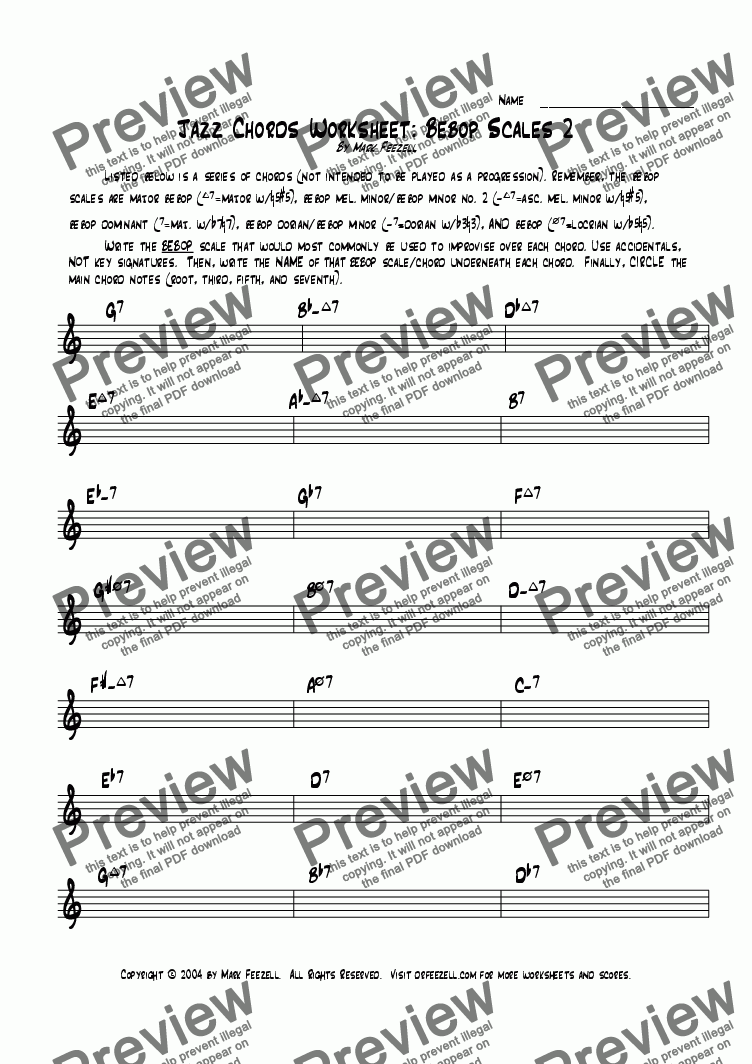 Jazz Worksheet Pdf Livinghealthybulletin
