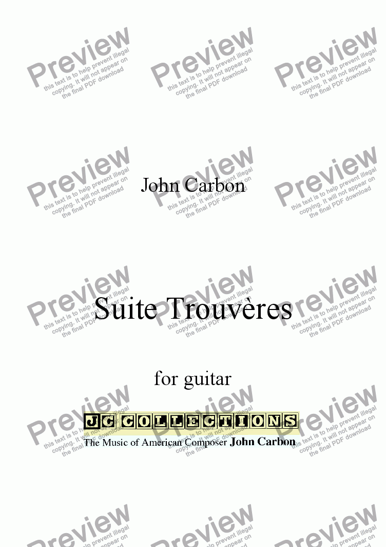 page one of Suite Trouveres