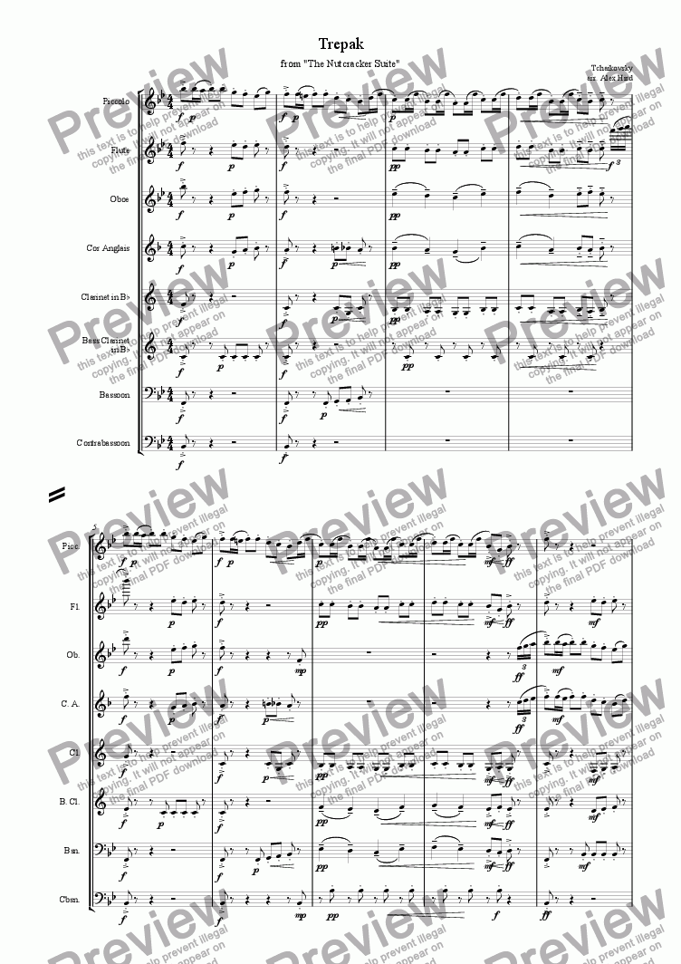 page one of Trepak - Wind Octet