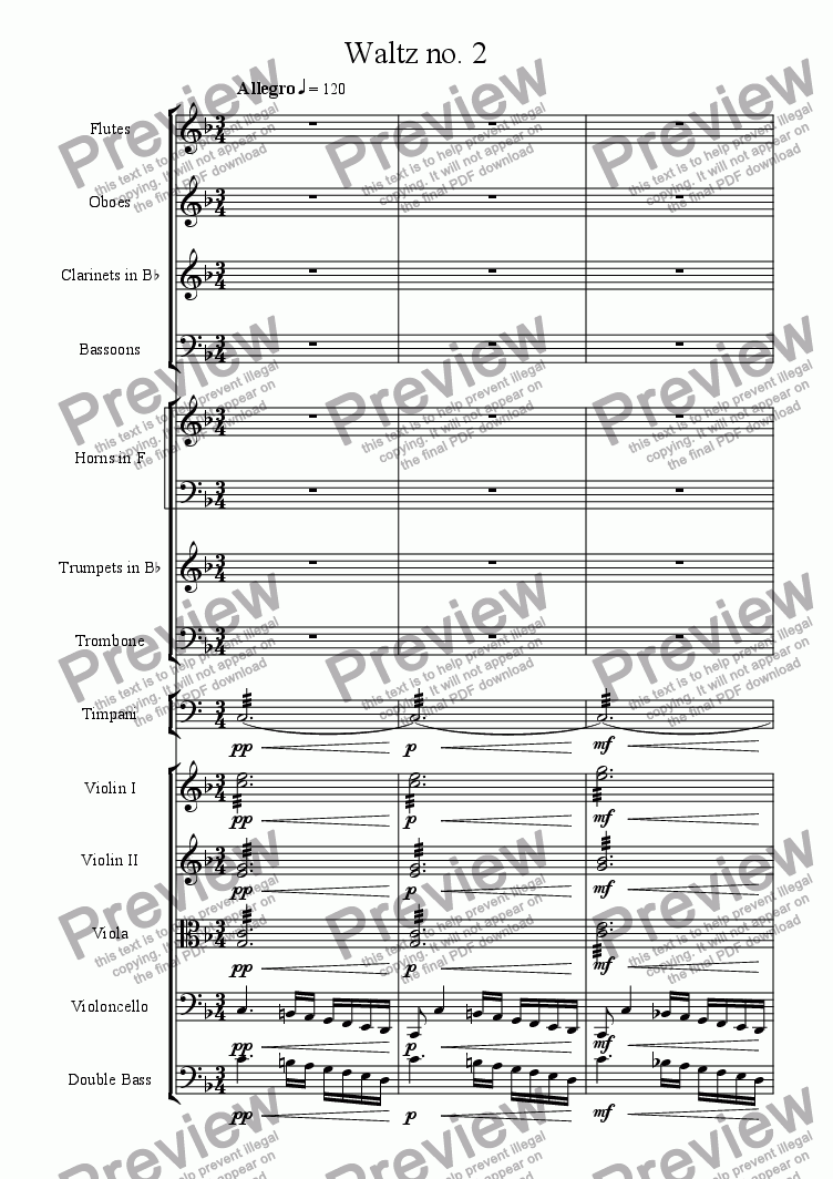 page one of Waltz no. 2