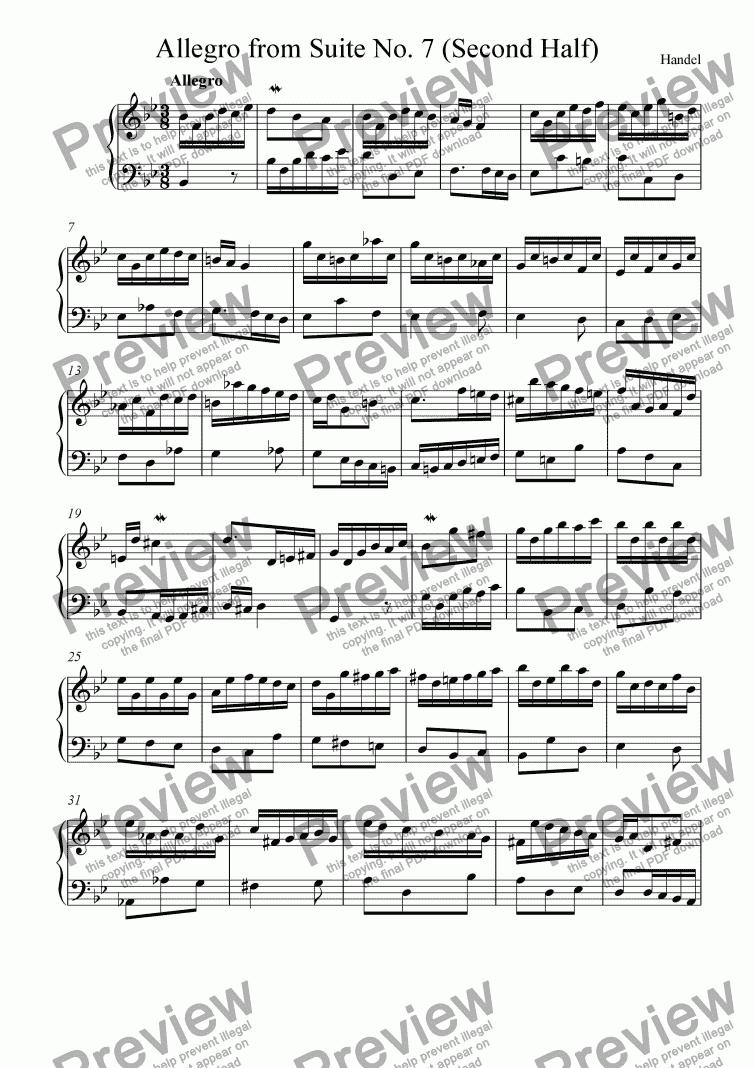 Allegro, from Suite No. 7