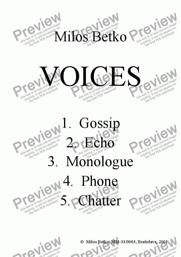 page one of Voices > 5 Chatter