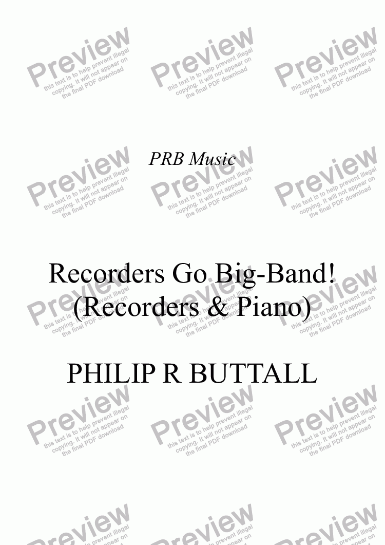 page one of Recorders go Big-Band!
