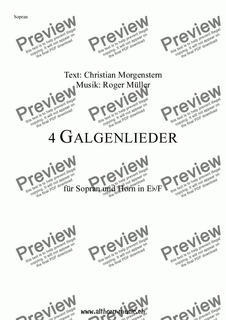 page one of 4 Galgenlieder / 4 Gallow Songs