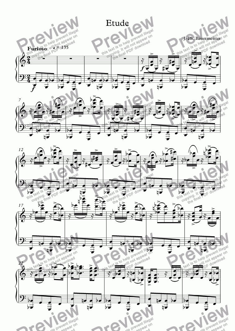 page one of Etude