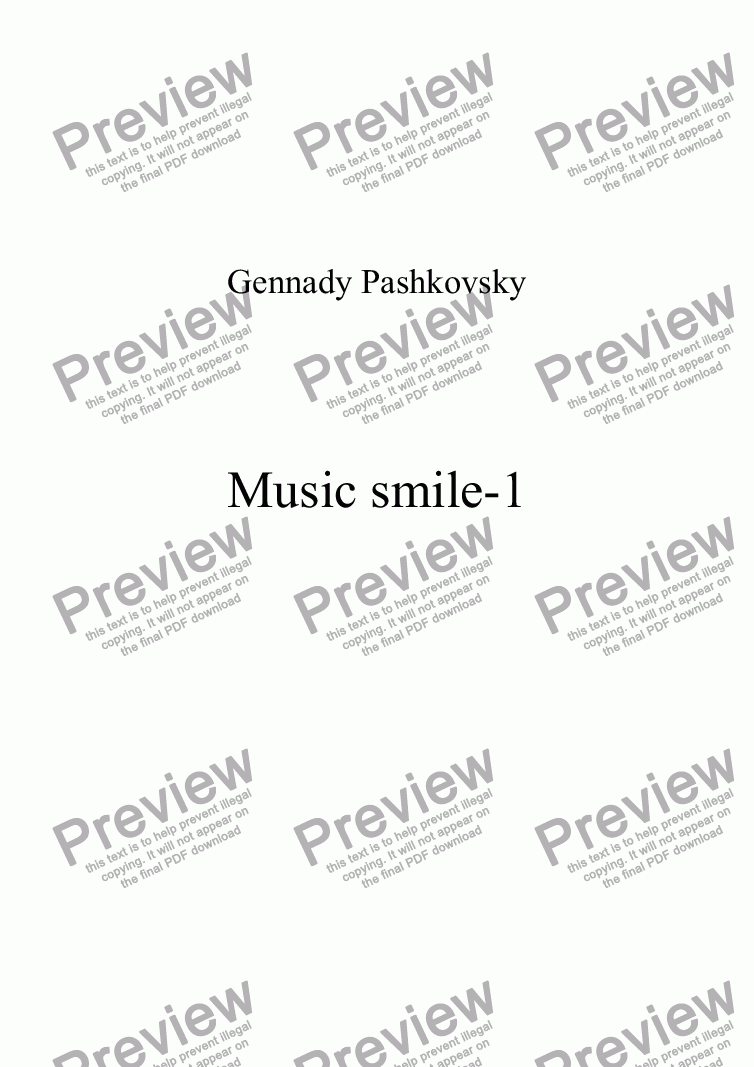 page one of Music smile-1