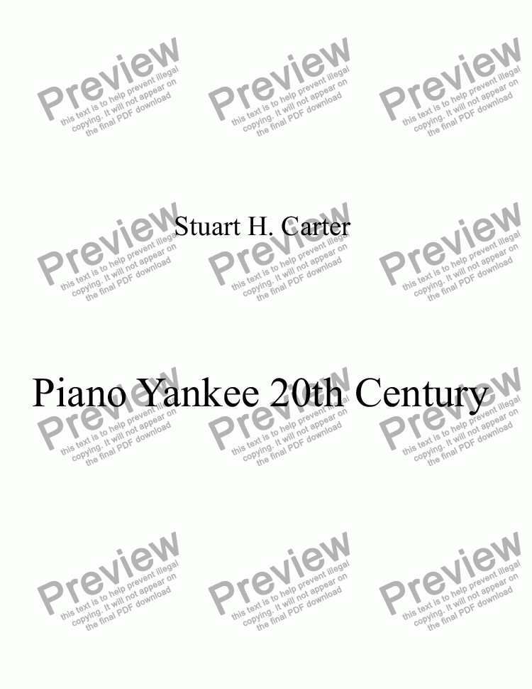 page one of The 20th Century Yankee, on Piano