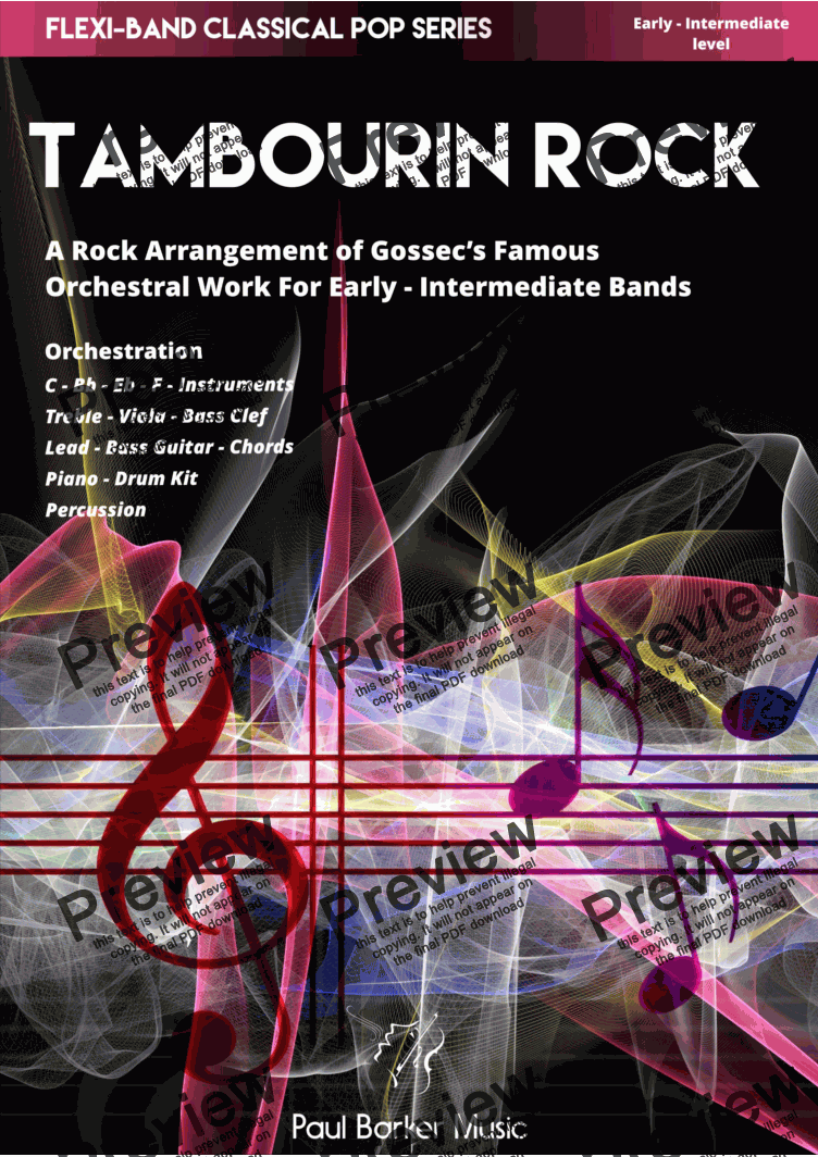 page one of Tambourin Rock  (Flexi-Band)
