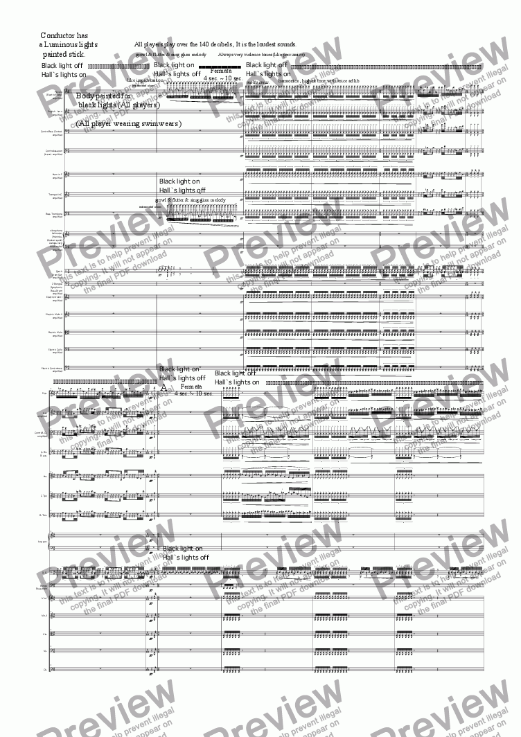 page one of luminous-orch