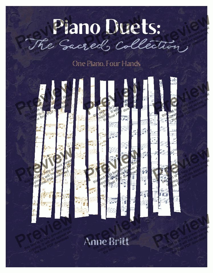 page one of Piano Duets: The Sacred Collection