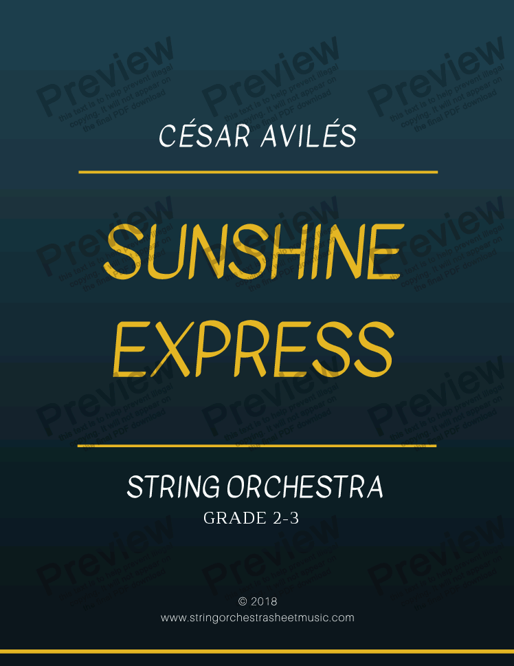 page one of Sunshine Express  (String Orchestra)