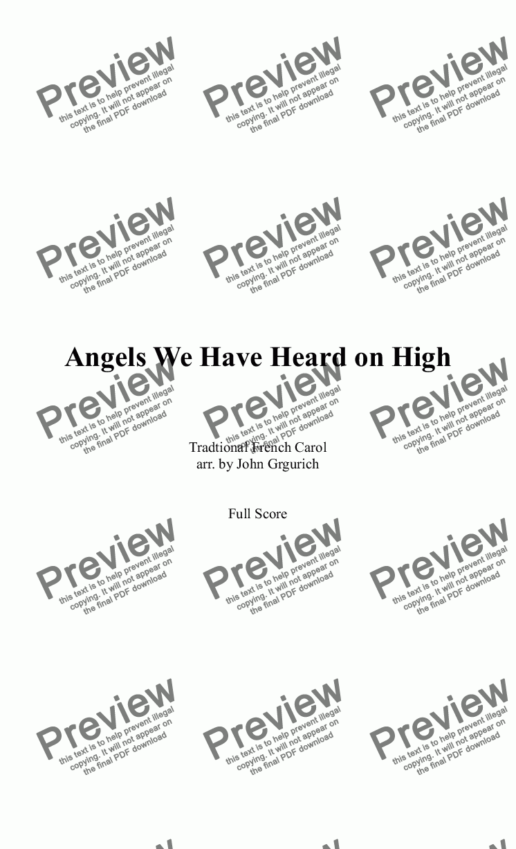 page one of Angels We Have Heard on High