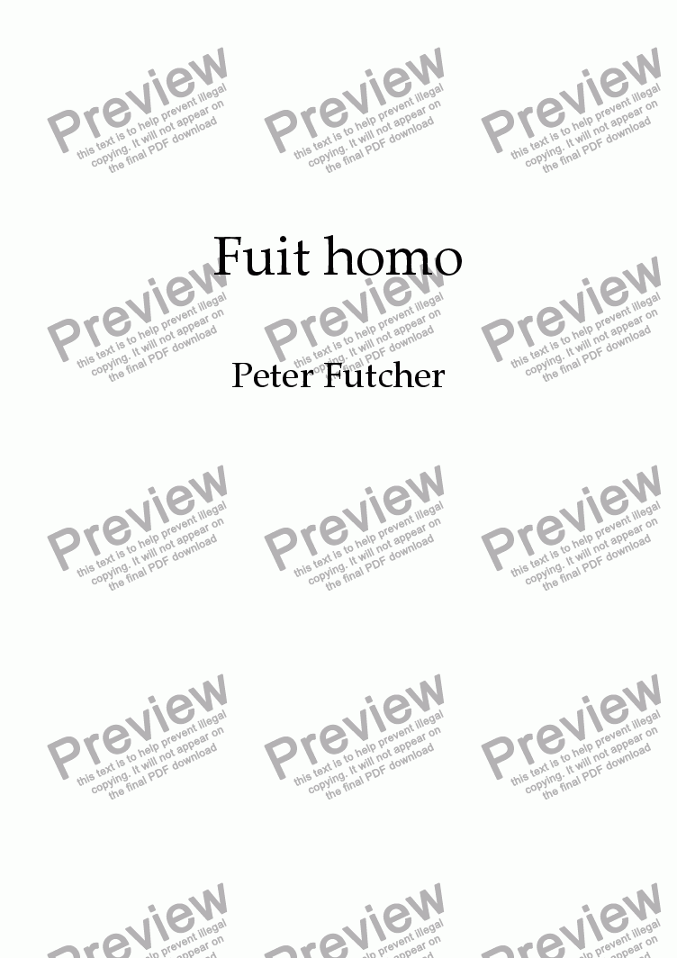 page one of Fuit homo