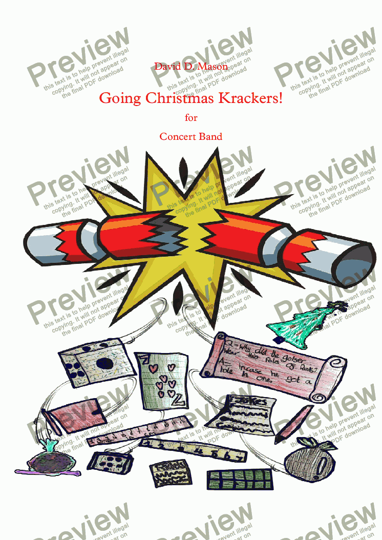page one of Going Christmas Krackers!