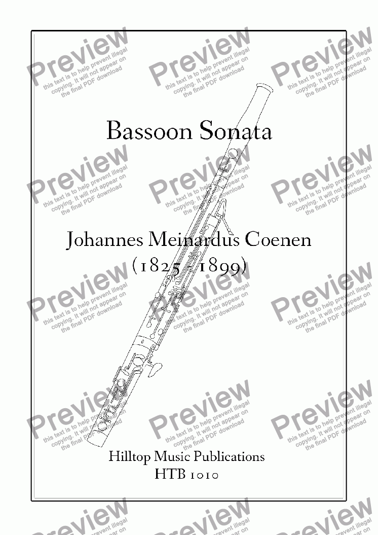 page one of Sonata for bassoon and piano